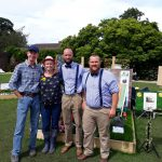 With the judges at the Chorley Flower Show