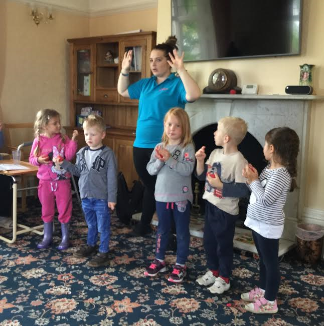A visit from children at Pipers Nursery School