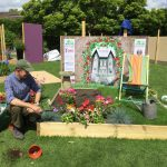 Chris, our gardener, hard at work today on our show garden