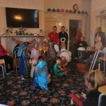 Pipers perform their Nativity Play